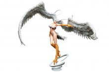 Devilman PVC Statue 1/7 Sirene Demon's Spiritual Wings in the Sk