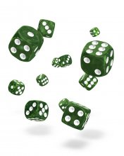 Oakie Doakie Kostky D6 Dice 12 mm Marble - Green (36)