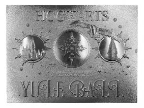 Harry Potter Replica Yule Ball Ticket Limited Edition (silver pl