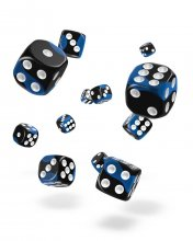 Oakie Doakie Kostky D6 Dice 12 mm Glow in the Dark - Deep Ocean