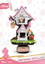 Disney D-Stage PVC Diorama Chip 'n Dale Tree House Cherry Blosso