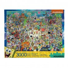 SpongeBob skládací puzzle Bikini Bottom (3000 pieces)