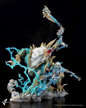 Monster Hunter Zinogre Diorama 1/10 Zinogre The Electrifying Bun