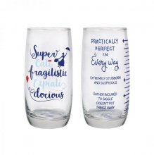 Mary Poppins Drinking Glass 2-Pack Practically Perfect
