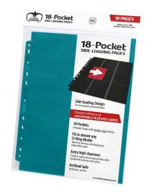 Ultimate Guard 18-Pocket Pages Side-Loading Petrol Blue (10)