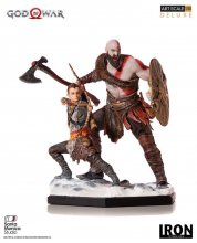 God of War Deluxe Art Scale Socha 1/10 Kratos & Atreus 20 cm