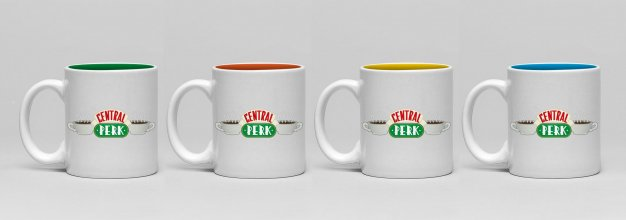 Friends hrnky na espresso 4-Pack Central Perk
