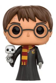 Harry Potter POP! Movies Vinyl Figure Harry with Hedwig 9 cm
