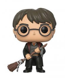 Harry Potter POP! Movies Vinyl Figure Harry with Firebolt & Feat
