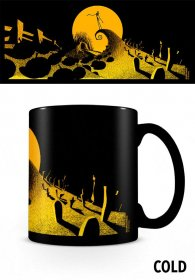 Nightmare before Christmas Heat Change Mug Graveyard Scene