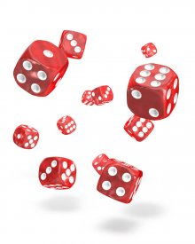 Oakie Doakie Kostky D6 Dice 12 mm Marble - Red (36)
