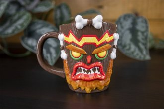 Crash Bandicoot Hrnek Shaped Uka Uka 13 cm
