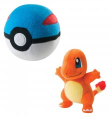 Pokemon Plush Figure Charmander with Great Ball 15 cm