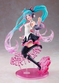 Vocaloid AMP PVC Socha Hatsune Miku Birthday 2021 Happy Cat ver
