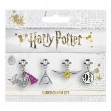 Harry Potter Charm 4-Pack Snitch/Deathly Hallows/Platform 9 3/4/