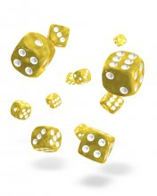 Oakie Doakie Kostky D6 Dice 12 mm Marble - Yellow (36)