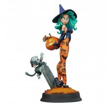 Happy HallowQueens Collection Socha Pumpkin Witch by Chris Sand