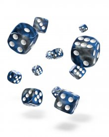 Oakie Doakie Kostky D6 Dice 12 mm Gemidice - Liquid Steel (36)
