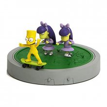 Simpsons Movie figrky Set Naked Skater Bart, Sherri & Terri