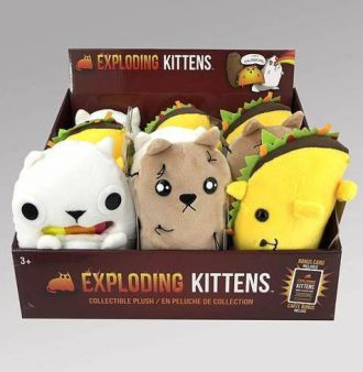 Exploding Kittens Plush Figures 18 cm Display (9)
