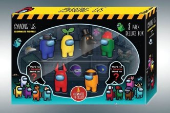 Among Us mini figurky 8-pack Crewmates Deluxe Box