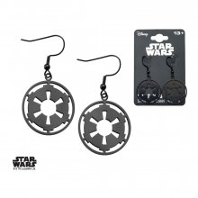 Star Wars Earrings Black Galactic Empire Symbol