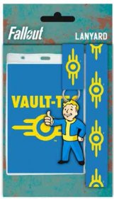 Fallout Lanyard with Rubber Keychain Vault Tec