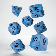 Classic RPG Runic Dice Set glacier & black (7)
