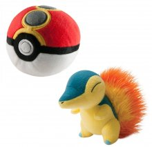Pokemon Plyšák Cyndaquil with Repeat Poke Ball 15 cm