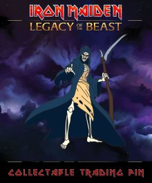 Iron Maiden Legacy of the Beast Odznak Reaper Eddie