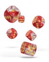 Oakie Doakie Kostky D6 Dice 16 mm Gemidice - Red Sky (12)