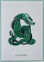 Harry Potter Quilled Greeting Card Slytherin