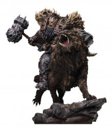 Warcraft: The Beginning Socha 1/9 Blackhand Riding Wolf (Standa