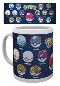 Pokemon Hrnek Ball Varieties