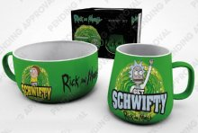 Rick and Morty Breakfast Set Get Schwifty
