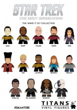 Star Trek TNG Trading Figure Make It So Collection Titans Displa