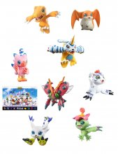 Digimon Adventure Digicolle! Series Trading Figure 8-Pack Mix Sp