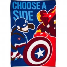 Captain America Civil War fleece deka Choose A Side 100 x 150