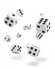 Oakie Doakie Kostky D6 Dice 12 mm Solid - White (36)