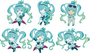 Hatsune Miku GT Project Nendoroid Plus Rubber Charms 7 cm Assort