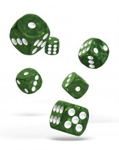 Oakie Doakie Kostky D6 Dice 16 mm Marble - Green (12)