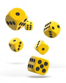 Oakie Doakie Kostky D6 Dice 16 mm Solid - Yellow (12)