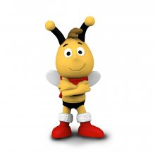 Maya the Bee Figure Christmas Willy 6 cm