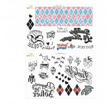 DC Comics Temporary Tattoos 40-Set Harley Queen