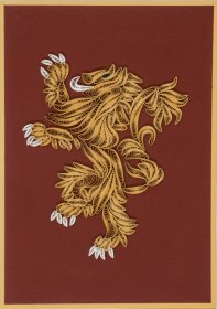 Game of Thrones přáníčko House Lannister