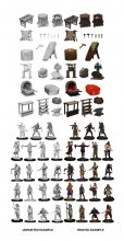 WizKids Deep Cuts Miniatures Townspeople & Accessories