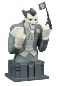 Batman The Animated Series Bust Almost Got 'Im Joker Black & Whi