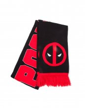 Deadpool Knitted Scarf Classic Logo & Big Face