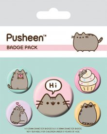 Pusheen sada odznaků 5-Pack Pusheen Says Hi