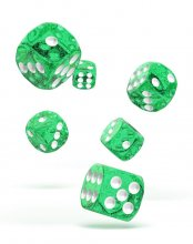 Oakie Doakie Kostky D6 Dice 16 mm Speckled - Green (12)
